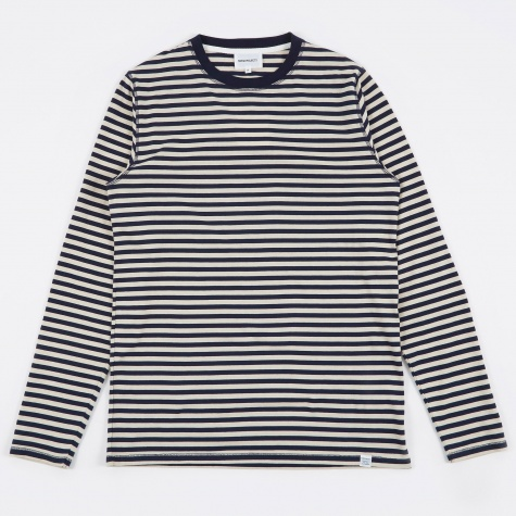 Svali Military Stripe T-Shirt - Kit White/Navy