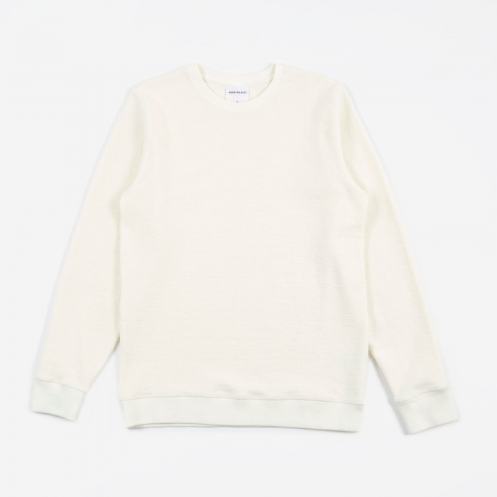 Norse Projects Vagn Heavy Towelling Crew - Kit White (Image 1)