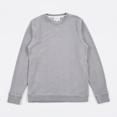 Vagn Heavy Towelling Crew - Ash Grey