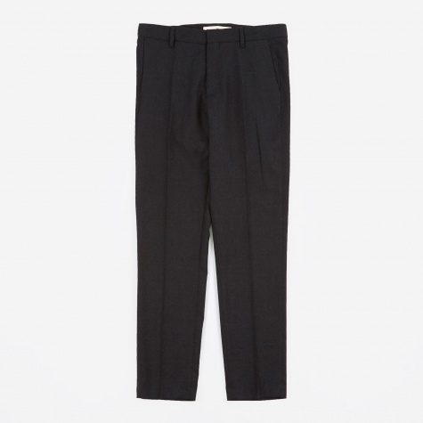 Thomas Wool Pant - Charcoal Melange