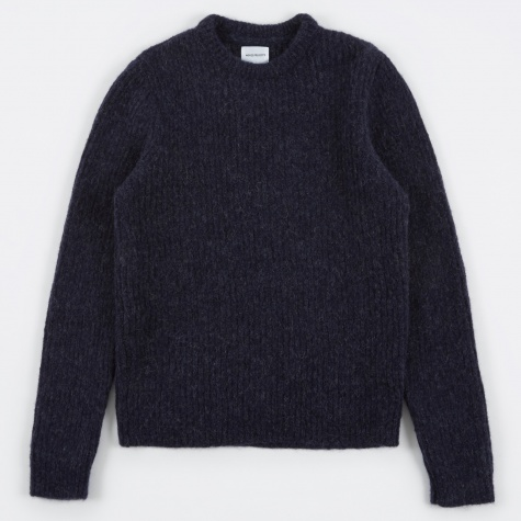 Arild Brushed Alpaca Knit - Navy