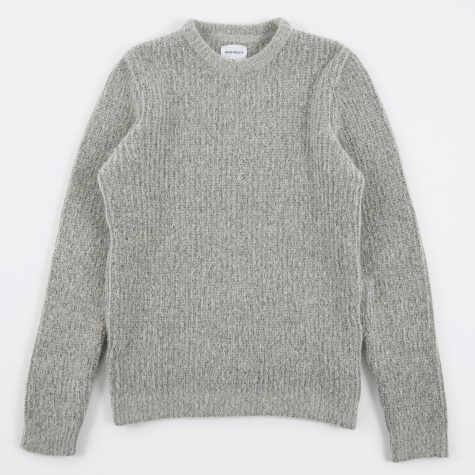 Arild Brushed Alpaca Knit - Light Grey Melange