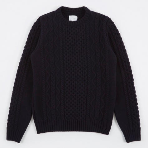 Arild Cable Knit - Navy