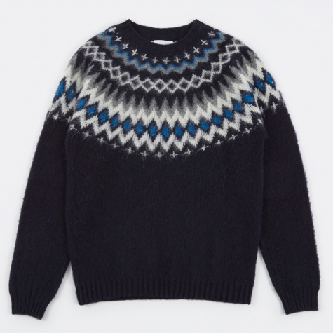 Birnir Fairisle Knit - Navy