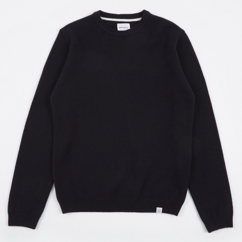 Sigfred Lambswool Knit - Navy