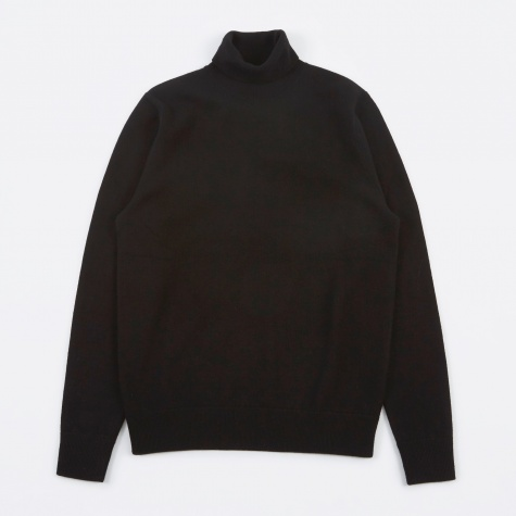 Marius Boiled Wool Knit - Black