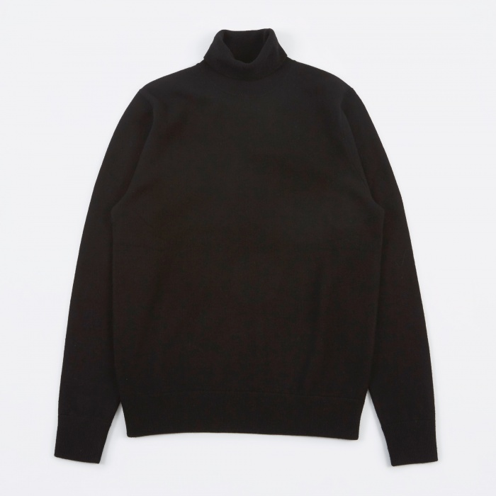 Norse Projects Marius Boiled Wool Knit - Black (Image 1)