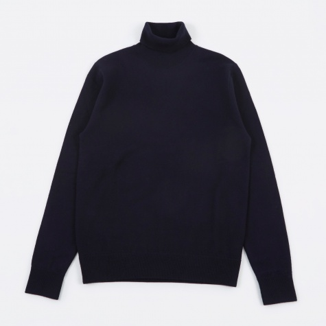 Marius Boiled Wool Knit - Navy