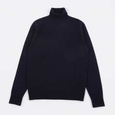 Norse Projects Marius Boiled Wool Knit - Navy