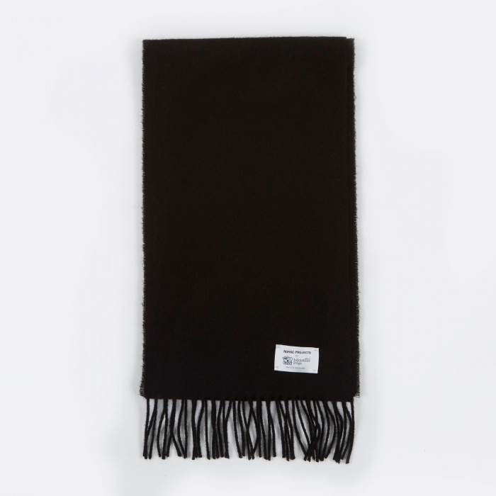 Norse Projects x Johnstons Lambswool Scarf - Black (Image 1)
