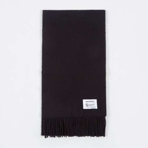 x Johnstons Lambswool Scarf - Navy
