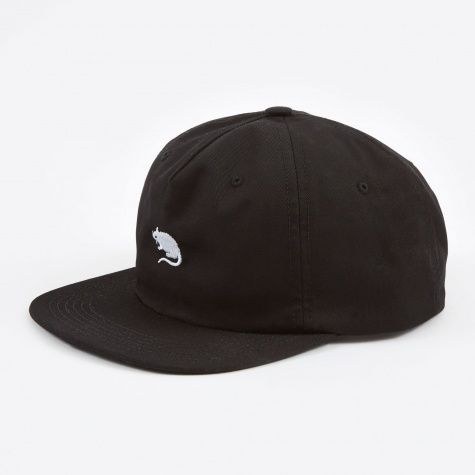 5 Panel Snap Back Cap - Black