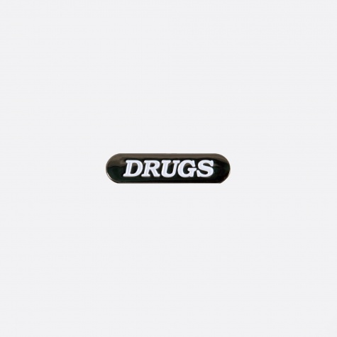 Drugs Pin - Black/White