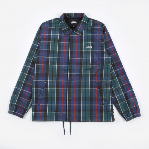 Cruize Coach Jacket - Navy Plaid