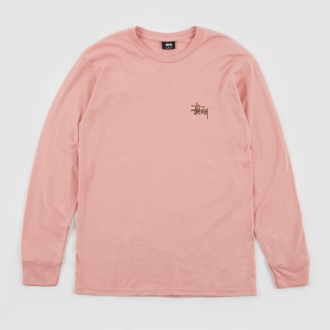 Basic Stussy LS T-Shirt - Dusty Rose
