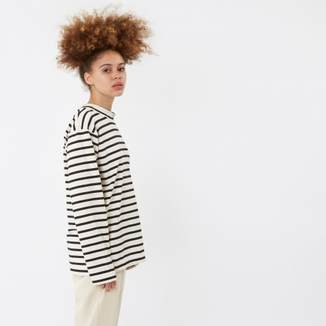 Le Minor Stripe L/S Top - Navy