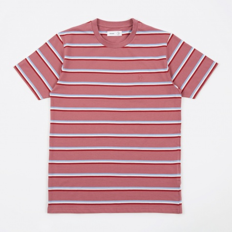 Tres Bien x Polar Skate Co. Striped T-Shirt - Dusty Rose