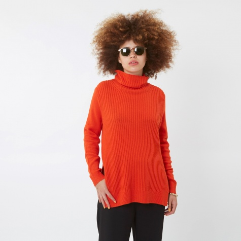 Mercer Roll Neck Top - Big Apple Red