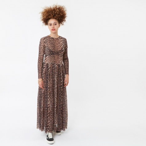 Tilden Mesh Dress -  Leopard