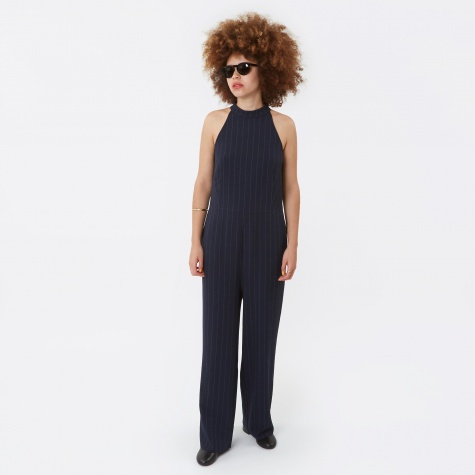 Pinstripe Jumpsuit - Total Eclipse