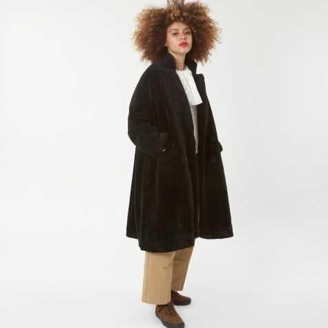 Astrakhan Faux Fur coat - Black