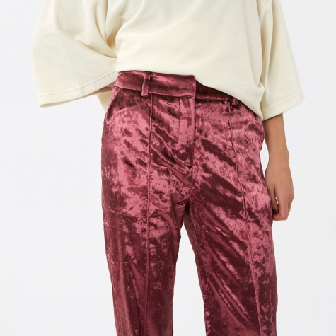 Shining Velvet Pants - Dry Rose