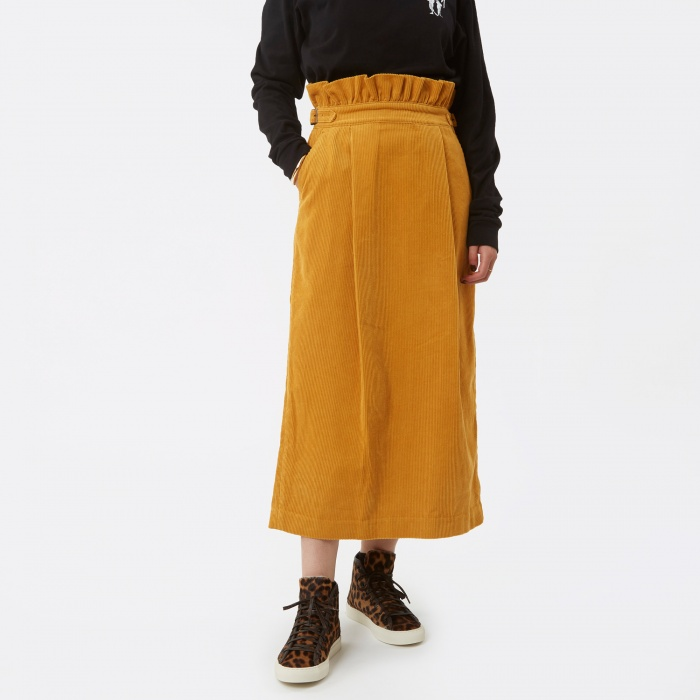 Neul Ghurka Tulip Corduroy Skirt - Sunflower Yellow (Image 1)