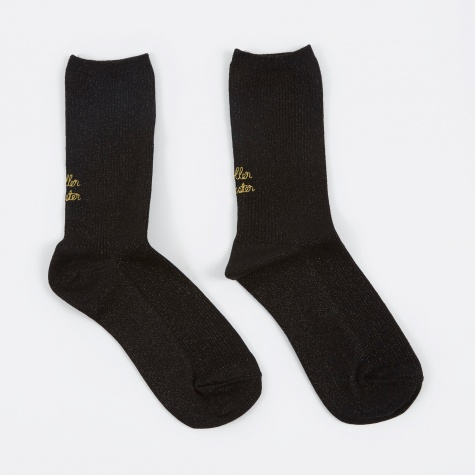 Roller Coaster Socks - Black