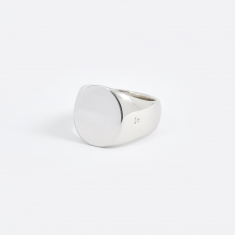 Tom Wood Polished Oval Ring - Silver