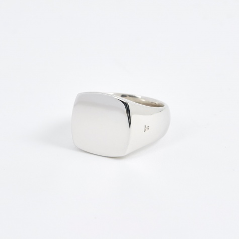 Polished Cushion Ring - Silver