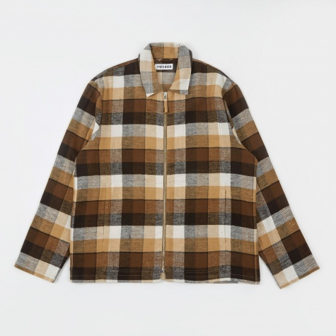 Tres Bien Zip Blouson - Brown Check