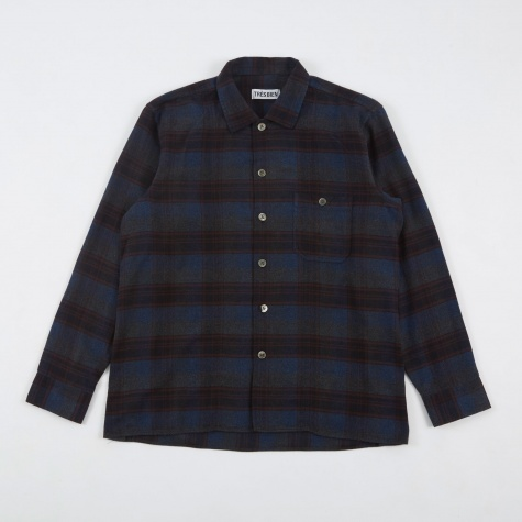 Tres Bien Short Tunic Shirt - Blue Flannel