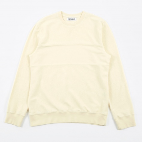 Tres Bien Panel Sweatshirt  - Off White