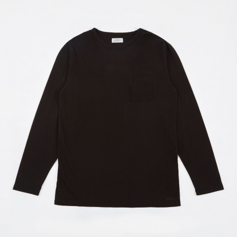 James L/S Pima T-Shirt - Black