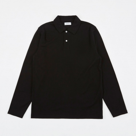 Sanders L/S Wool T-Shirt - Black