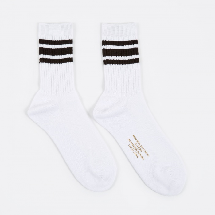 Wacko Maria Sports Socks - White/Black (Image 1)