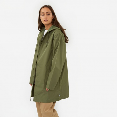 Tony Long Hooded Coach Jacket - Olive