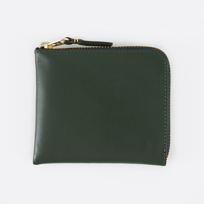 Comme des Garcons Wallets Comme des Garcons Wallet Classic Leather (SA3100) - Bottle Green (Image 1)