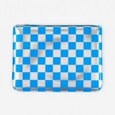 Comme des Garcons Wallets Optical Group (SA5100GB) - Check/Blue