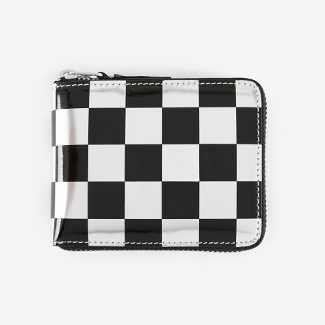 Comme des Garcons Wallet Optical Group (SA7100GA) - Check/Silver
