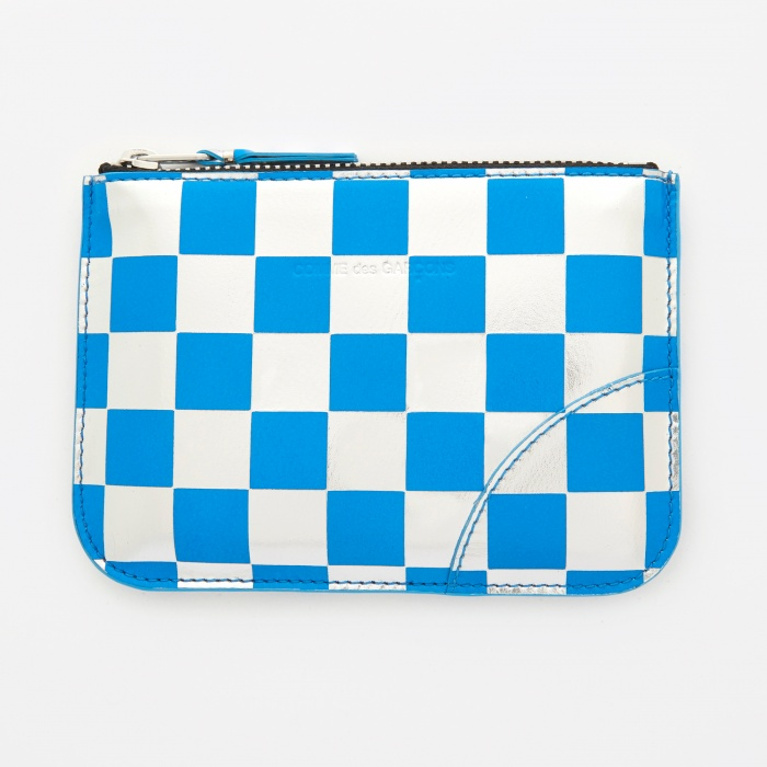 Comme des Garcons Wallets Comme des Garcons Wallet Optical Group (SA8100GB) - Check/Blue (Image 1)