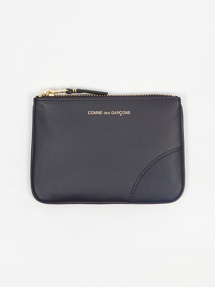 Comme des Garcons Wallets Classic Leather (SA8100) - Navy (Image 1)