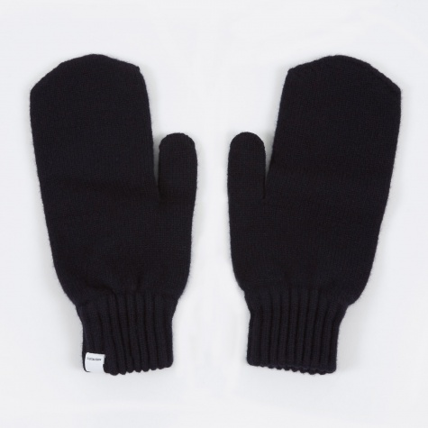 Ebba Lambswool Gloves - Dark Navy