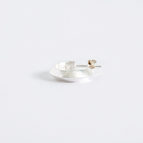 Triangle Small Earring - Polished/Brushed Silver