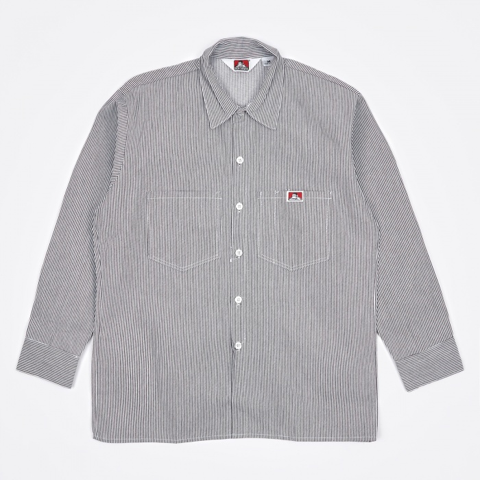 Ben Davis Long Sleeve Work Shirt - Hickory Stripe (Image 1)