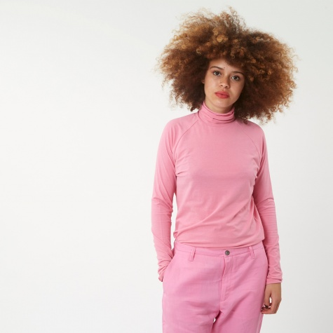Smart L/S Polo Neck T-Shirt - Pink