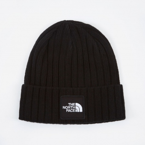 Logo Boxed Cuffed Beanie - Black