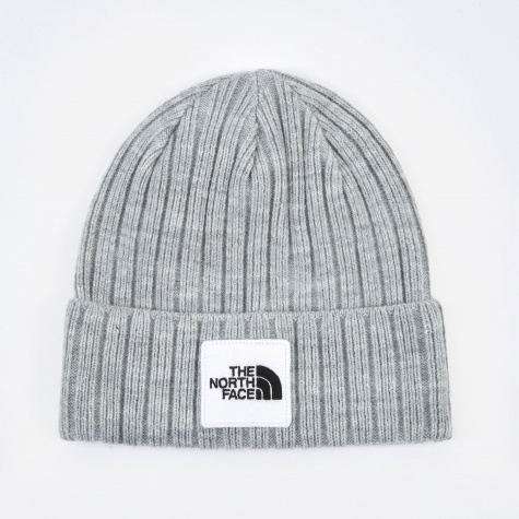 Logo Boxed Cuffed Beanie - Light Grey