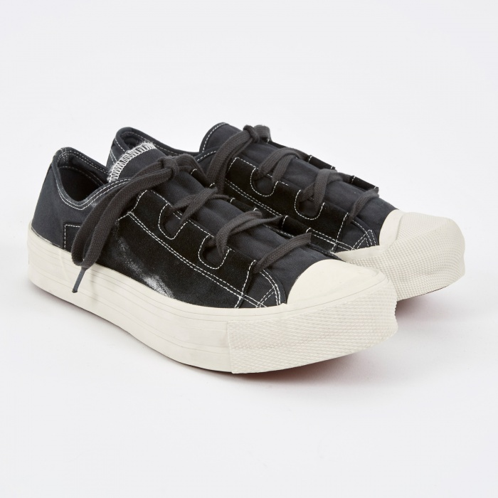 Needles Asymmetric Ghillie Sneaker - Charcoal (Image 1)