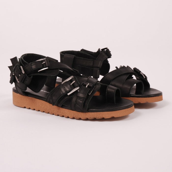 Surface To Air Saga Sandal - Black (Image 1)